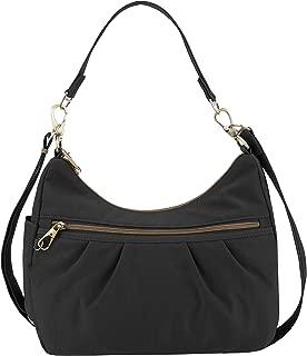 Anti-theft Signature Hobo Bag, Black