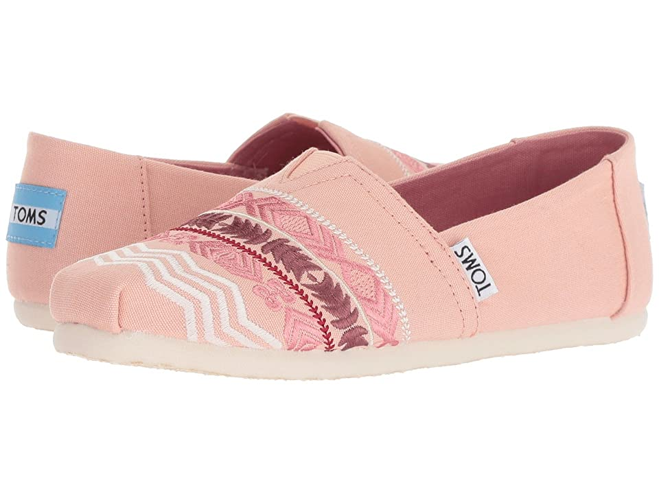 TOMS Kids Alpargata (Little Kid/Big Kid) (Rose Cloud Global Embroidery/Canvas) Girl
