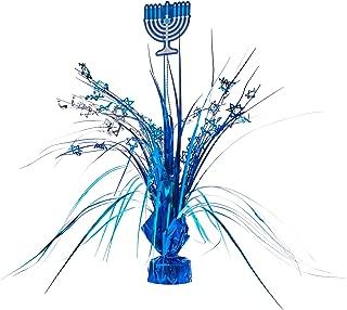 amscan Hanukkah Blue Foil Spray Centerpiece | Party Decoration