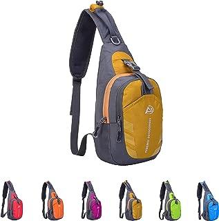 Queenie - Unisex Water Resistant Sling Bag Outdoor Shoulder Backpack Chest Pack Cross Body Daypacks