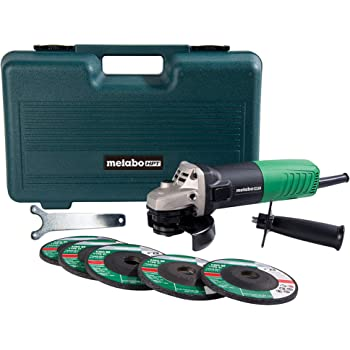 "Metabo HPT Angle Grinder | 4-1/2"", Includes 5 Grinding Wheels & Hard Case 