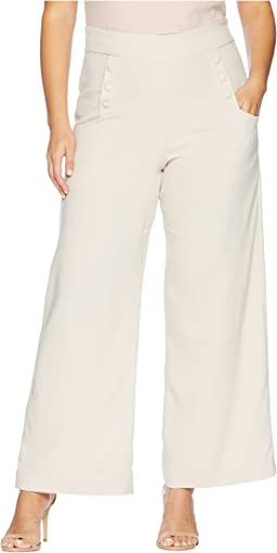 Plus Size High-Waist Sailor Ginger Pants