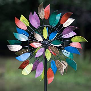 Creekwood Dancing Leaves Wind Spinner, Multicolour, 84 inch Height