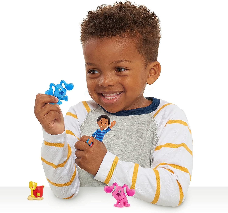 Blue/'s Clues /& You Collectible Figures Set 8 Piece Blue Magenta Mailbox Shovel