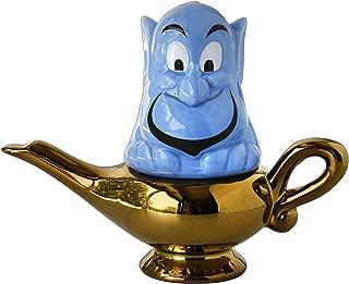 Disney Aladdin Salt & Pepper Shaker Set - Genie and Lamp Figural Design - Stackable - Ceramic