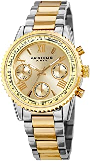 Akribos XXIV Multifunction Everyday Women's Watch - 3 Subdials, Month Date, Week Date and 24 Hr Functions Complication On ...