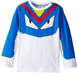 Fendi Kids - Long Sleeve Monster Eyes Graphic T-Shirt (Infant)