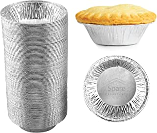 60 Pack - Pie Pans 5 Inch, Disposable Pie Tins, Aluminum Pie Pans, Foil Tart Pans used for Baking, Cooking, Storage and Re...