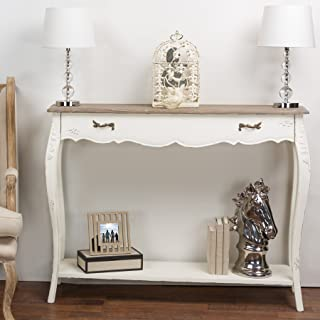 Baxton Studio Bourbonnais Wood Traditional French Console Table, 35.5