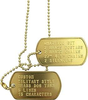Custom Brass Military Style Dog