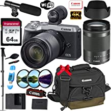 Canon EOS M6 Mark II Mirrorless Digital Camera with 18-150mm Lens and EVF-DC2 Viewfinder (Silver) + Prime Accessory Bundle with 64GB Memory, Canon Case & More