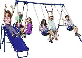 Sportspower Arcadia Swing Set - Outdoor Heavy-Duty Metal Playset for Kids
