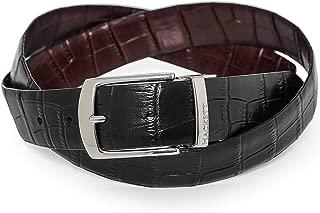Hackett Men's Leather Reversible Mock Croc Belt Multi Coloured