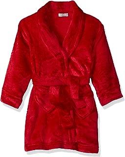 Girls' Big Velvet Fleece Plush Robe