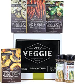 Urban Accents VERY VEGGIE, Ultimate Vegetable Spice and Seasoning Gift Set (Set of 6) - Culinary Seasoning Set for Vegetables- Perfect Gift for Weddings, Housewarmings or Any Occasion