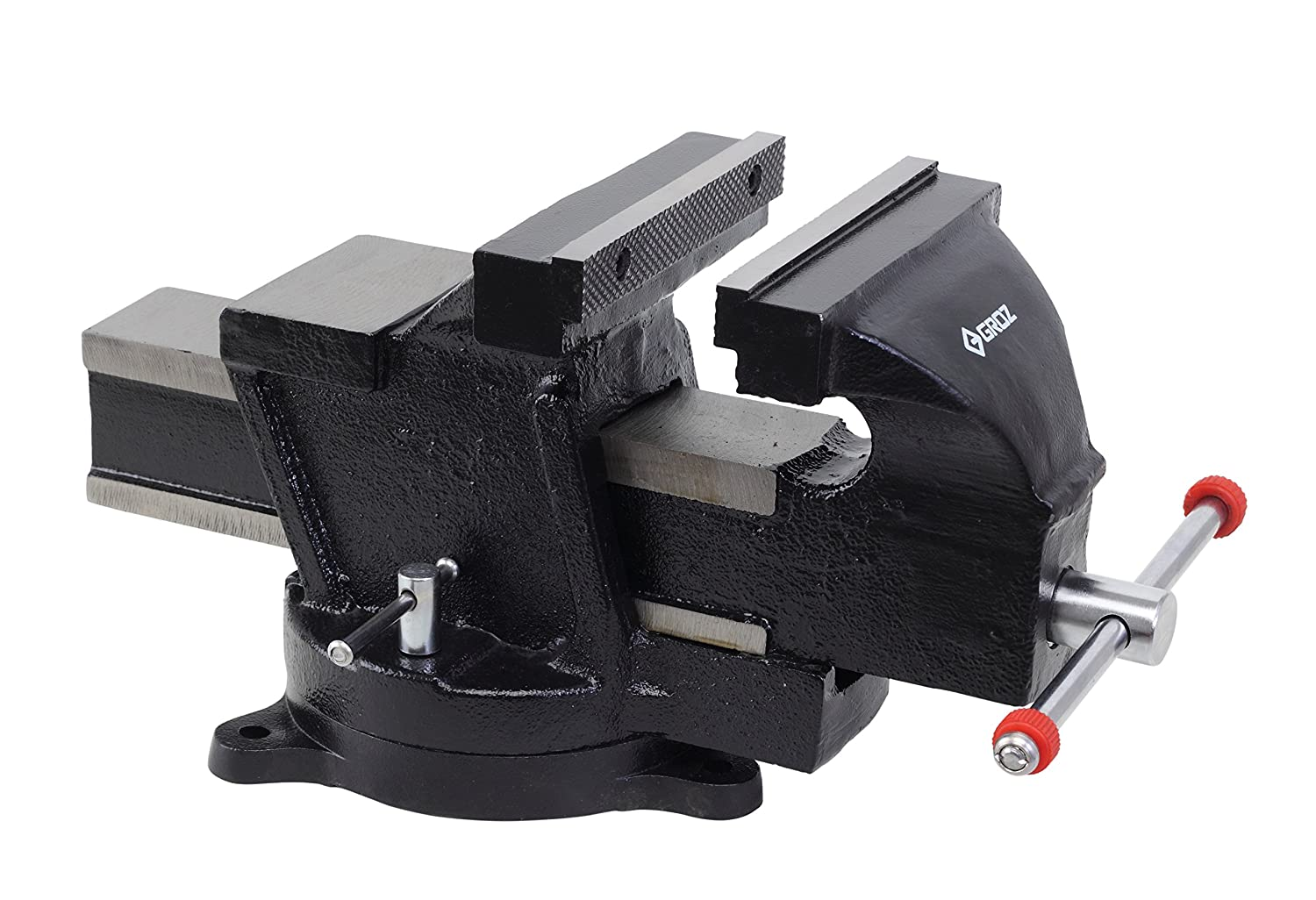 Groz Max 50% OFF 6-inch Mechanic's Bench Vise Cast Swivel Iron excellence Base
