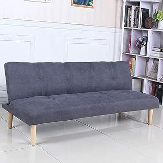 comprar comparacion Sofá Cama 3 plazas Clic Clac Joy Gris Oscuro tapizado con Tela 100% Poliéster, Patas de Madera