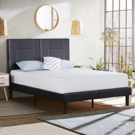 Olee Sleep 14 Inch Dura Metal Faux Leather Wood Folding Platform Bed Frame Full Size Black New Queen 14pb06q Furniture Decor