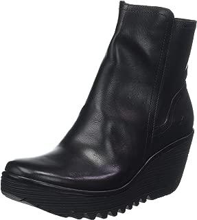 FLY London Women's Women's Yeti Leather Wedge Heel Ankle Boots