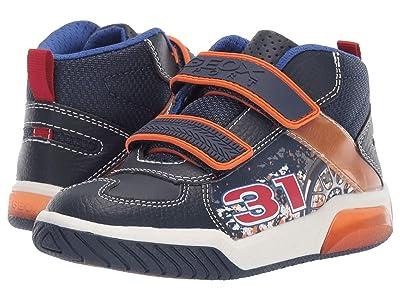 Geox Kids Jr Inek 4 (Little Kid) (Navy/Orange) Boys Shoes