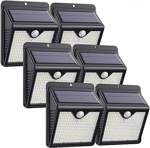 Lampe Solaire Extérieur, [ 6 Pack 150 LED - 1000 lumens] iPosible Lumière Solaire Etanche éclairage Solaire avec Déte...