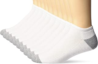 Amazon Essentials Men's 10-Pack Cotton Half Cushioned No-Show Socks, Pack of 10