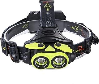 Ameelie LED ヘッドライト 超高輝度 防水 led ヘッドランプ 5000ルーメン ズーム機能 角度調節可能 点灯3モード 軽量 ヘルプライト 充電式電池付属