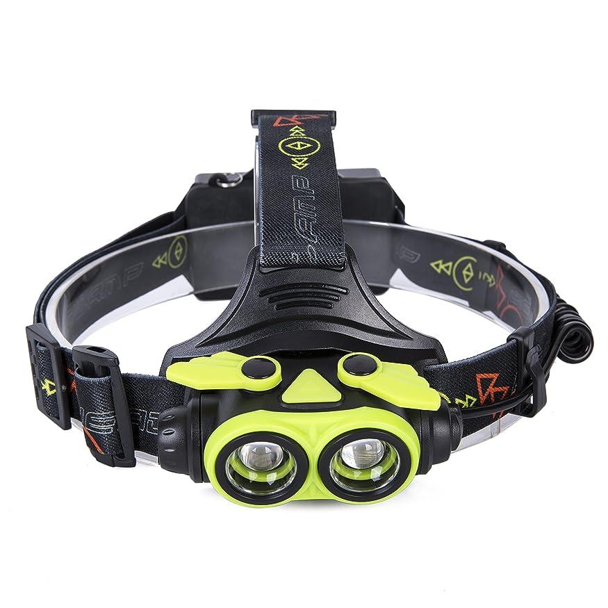 レイアウト戻る複雑でないAmeelie LED ヘッドライト 超高輝度 防水 led ヘッドランプ 5000ルーメン ズーム機能 角度調節可能 点灯3モード 軽量 ヘルプライト 充電式電池付属