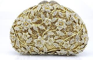 Redland Art Women's Fashion Sparkly Rhinestone Mini Clutch Bag Wristlet Evening Handbag Catching Purse Bag for Wedding Party (Color : Golden)