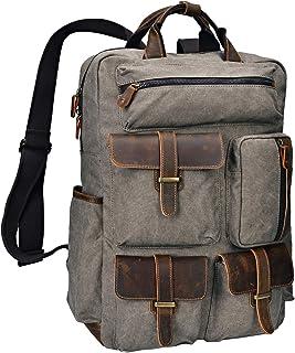 ALTOSY حقيبة ظهر قماش خمر الجلود حقائب الكمبيوتر المحمول الرجال النساء السفر حقيبة الظهر