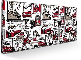 SUENOSZZZ-ESPECIALISTAS DEL DESCANSO Cabecero tapizado para Camas de 90 y 105 (115 x 57 cm) en Tela Motivo Estampado Comics