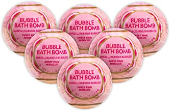 ME! Bath Bubble Bath Bomb, Pink - Sweet Pink Hibiscus, Crafted in the USA, 5 oz, 6 Count