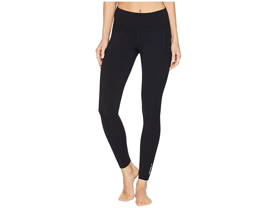 Image of 2XU Active Compression Tights (Black/Silver) Women's Workout