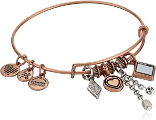 Alex and Ani Love Cluster Bangle, Two-Tone