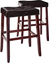 Crown Mark 2987 Kent Saddle Chair, Espresso, 2 Per Box