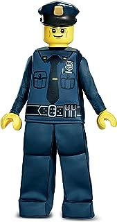 Disguise Lego Police Officer Prestige Costume, Blue, Medium (7-8)