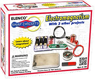 Snap Circuits Electromagnetism Exploration Kit   4 Electromagnetic Projects   4-Color Project Manual   Lots of STEM Fun