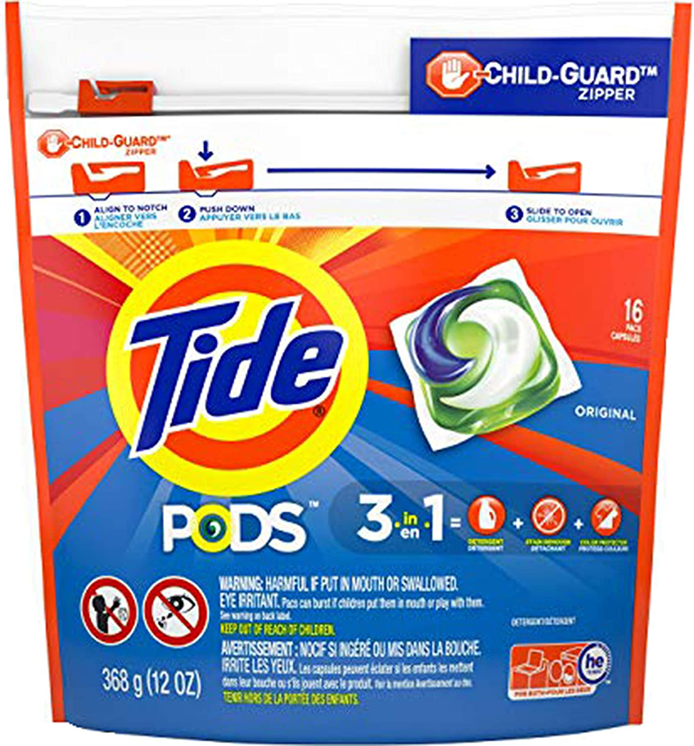 Tide PODS Albuquerque Genuine Free Shipping Mall Laundry Detergent Original by Scent Count 16