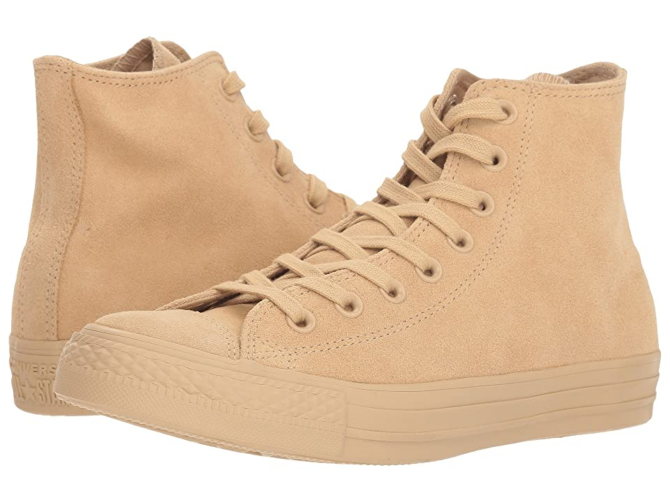 Converse Chuck Taylor(r) All Star(r) Hi Mono Suede (Light Fawn) Women