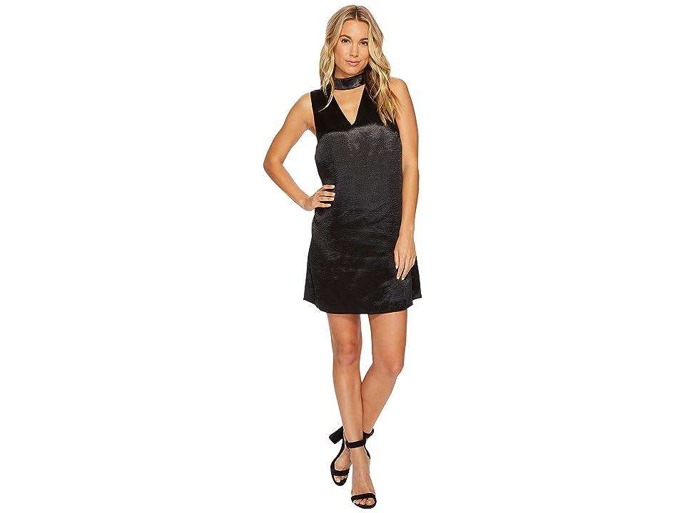 kensie Crinkled Satin Dress KSNU7058 (Black) Women