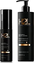 H2L Premium Natural Hydrating Body Oil & Nourishing Lotion Bundle - With Shea Butter & Baobab, Jojoba, Argan oil. Formulated to Repair, Rejuvenate & Hydrate Skin. For Men By Hill Harper