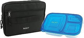 PackIt Freezable Bento Box Set: Freezable Sleeve and Reusable Bento Box Container, Black