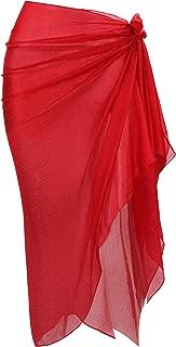 Hestya Women Pareo Swimsuit Beach Swimwear Wrap Gradient Color Bikini Sarong