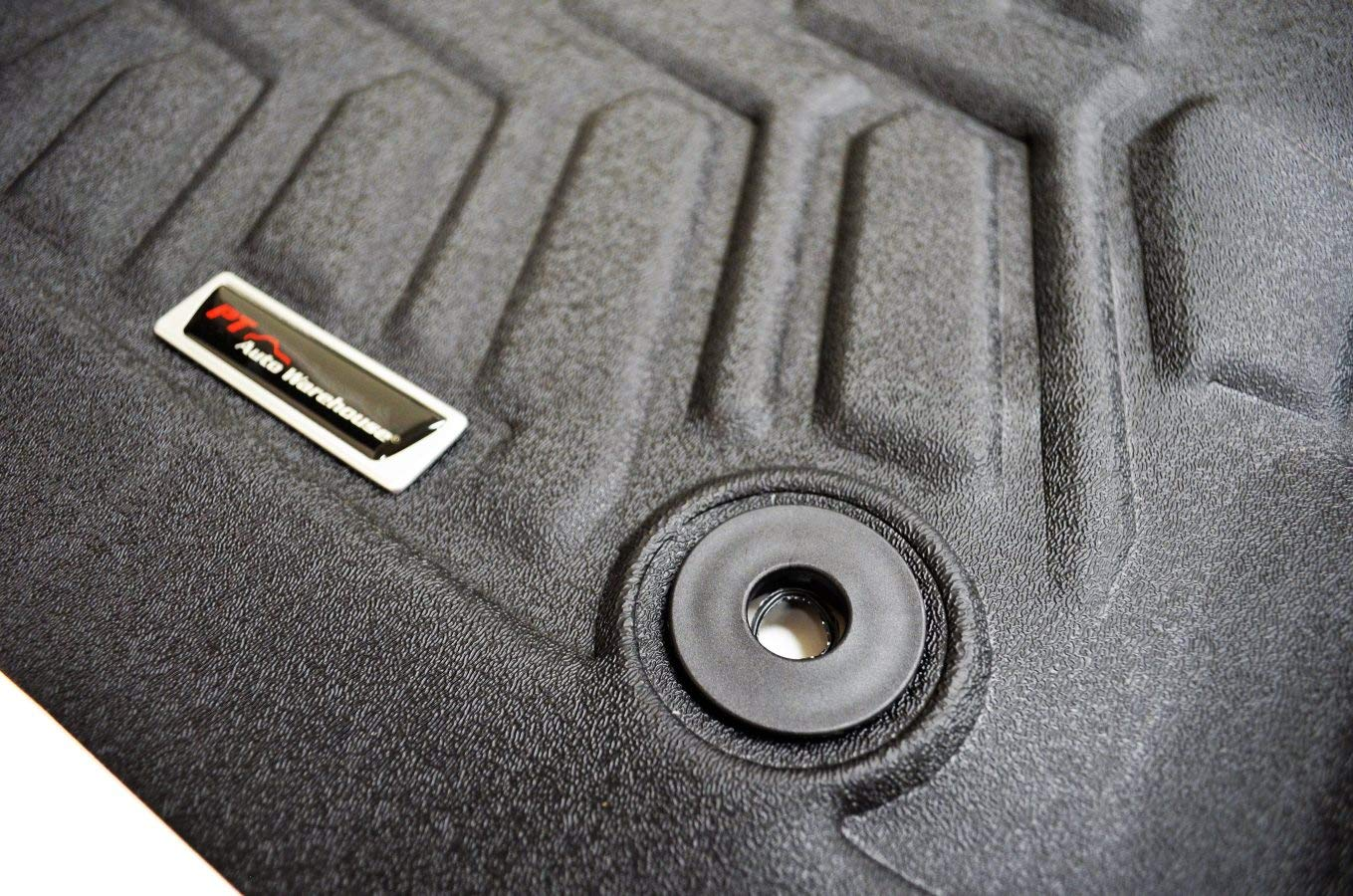 PT Auto Warehouse Black 8825282-8825284 First /& Second Row Floor Liners