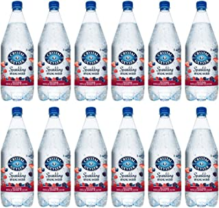 Crystal Geyser Sparkling Spring Water, Mixed Berry, 1.25 Liter PET Bottles , No Artificial Ingredients, Sweeteners, Calorie Free (Pack of 12)
