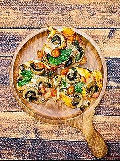 EIFFELS CRAFTS sheesham (rosenträ) pizza serveringsbricka/panna 25 cm,