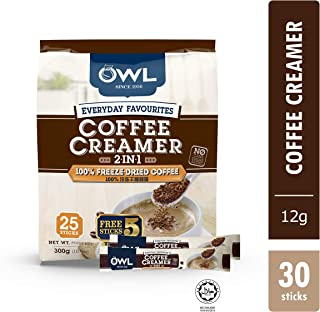 Owl Everyday Favourites Freeze-Dried 2in1 Coffee w/ Creamer +5s,  360 g  (Pack of 30)