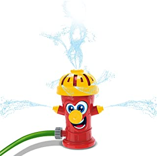 JOYIN Fire Hydrant Water Sprinklers for Kids, Kids Sprinkler Water Toys for Outdoor Yard and Summer Fun Activities