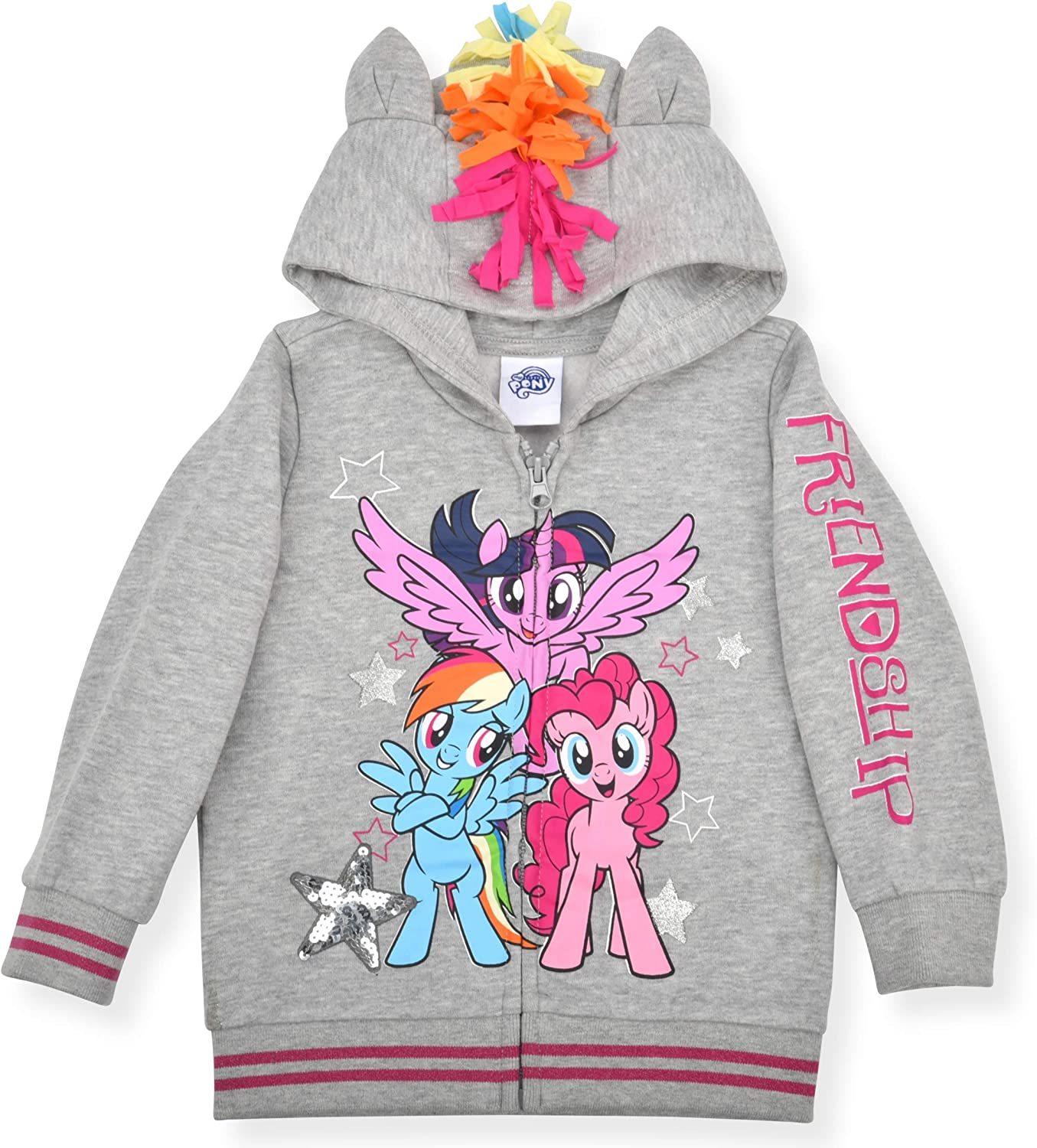 My Little Pony Girl's Rainbow Dash Roleplay Hoodie with 3D Ears,