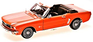 Motormax MM73145OR Ford Mustang Cabriolet 1964 1/2, Maßstab 1:18 von Motor Max, orange
